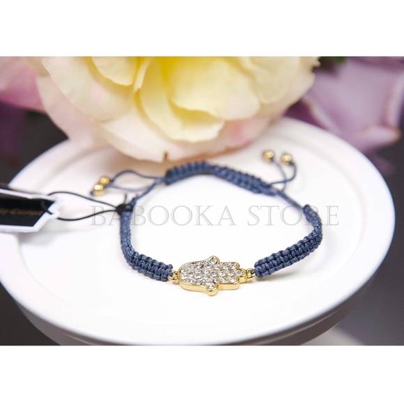 Juicy Couture Jewelry - Juicy Couture Pave Hamsa Hand Friendship Bracelet